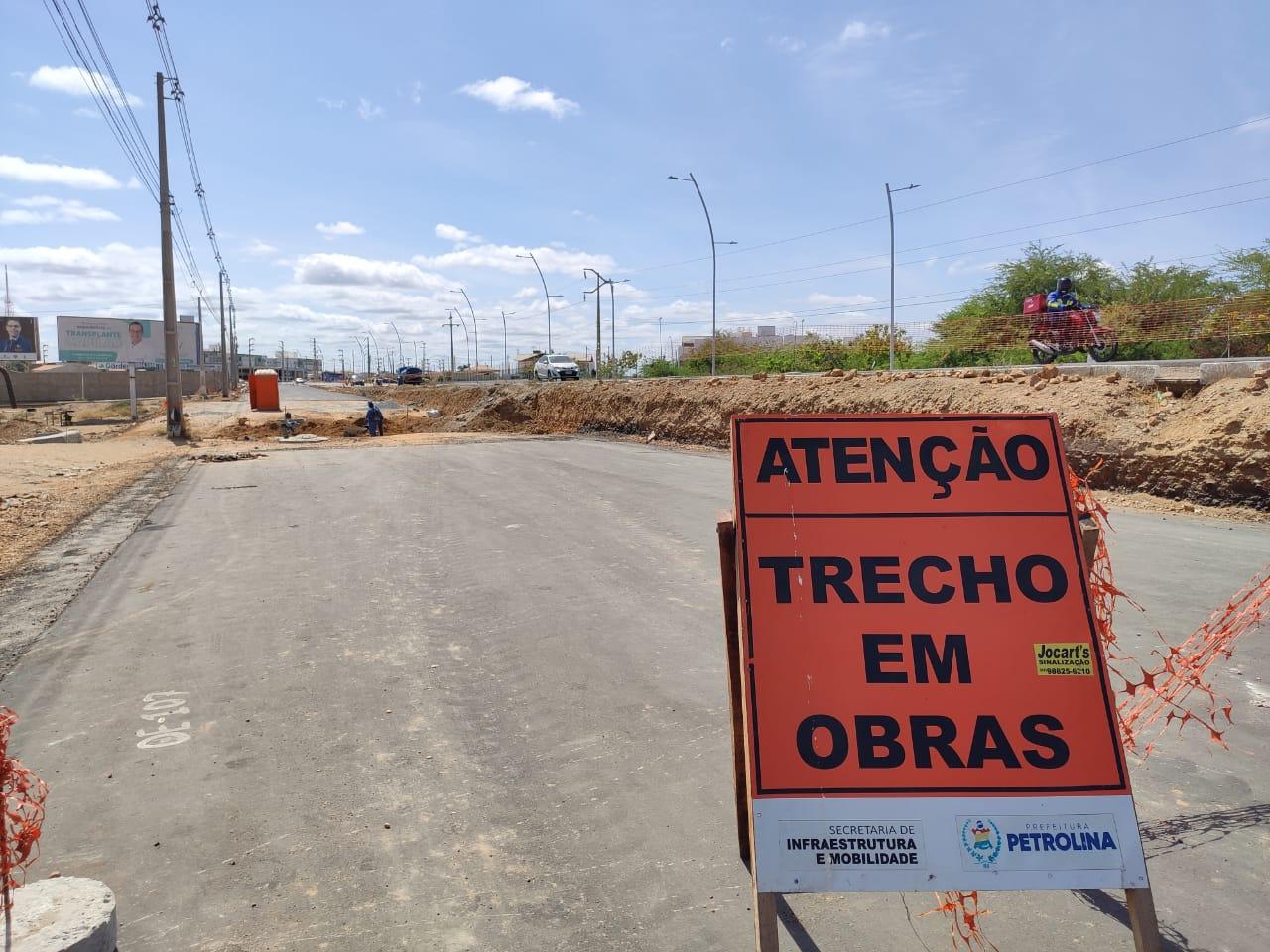 Duplicação da Avenida Cardoso de Sá avança e já está 55% concluída em Petrolina